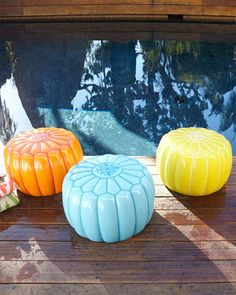 LOVE!!! - Outdoor Moroccan Pouf at Neiman Marcus.