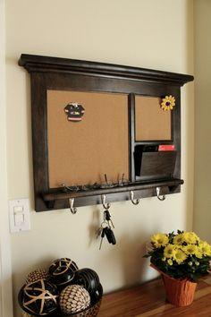 Solid Maple Hardwood Home Decor Wall Hanging Mail by Rozemake, $240.00