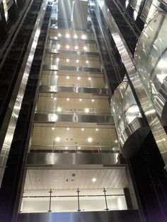 Aft elevators in the Anthem of the Seas.