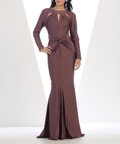 Another great find on #zulily! Mauve Cutout Tie-Waist Mermaid Gown & Shawl #zulilyfinds