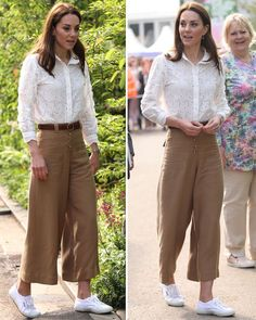 Kate Middleton looks chic in look as she arrives at Chelsea Flower Show 2019 launch - Kate Middleton news: Kate at Chelsea Flower Show in brown trousers Source by sabaaydini - Kate Middleton Outfits, Kate Middleton News, Estilo Kate Middleton, Pippa Middleton Style, Kate Fashion, Royal Fashion, Look Fashion, Fashion Outfits, Chelsea Flower Show