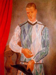Barcelona harlequin, 1917  Pablo Picasso