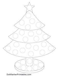 Dot Marker Printable Christmas Tree