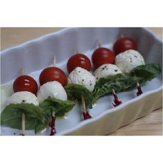 Easy Appetizers, drizzle with balsamic. It was a hit