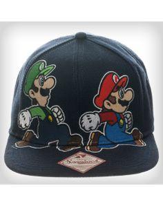 eb273a37652e0 Mario and Luigi Chase Snapback Hat Mario And Luigi