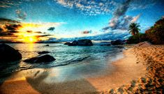 "The sand was so soft and powdery, and the water was like a warm bath. I guess that's why this area got the name ""The Baths"" although I am not sure. Do you like this painting effect? I think I like it sometimes… depends on my mood. - Virgin Gorda, Caribbean - Photo from #treyratcliff Trey Ratcliff at http://www.stuckincustoms.com/"