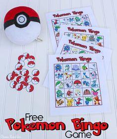 Pokemon Bingo Game Printable For Free Pokemon Themed Party, Pokemon Birthday, Pokemon Games Party, Pokemon Games For Kids, Princess Party Games, Kids Party Games, Kids Birthday Treats, Birthday Games, 7th Birthday