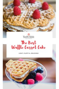 You will absolutely fall in love with this mash-up of a carrot cake and Torill's Table waffles. Norwegian Waffles, Easy Food To Make, Carrot Cake, Carrots, Cake Recipes, Special Occasion, Weddings, Breakfast, Fall