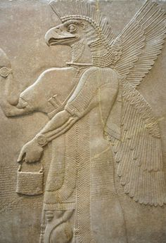 Assyrian Relief Panel at New York Metropolitan Museum of Art flickr.com