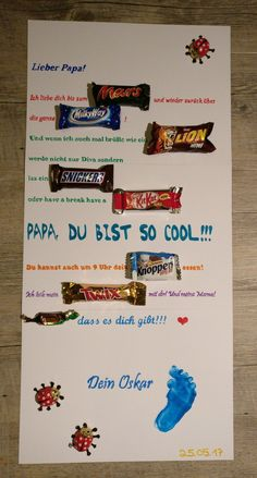 Vatertag Mars Milky Way Lion Snickers Kit Kat Knoppers Twix Merci Schokoriegel . - Vatertag Mars Milky Way Lion Snickers Kit Kat Knoppers Twix Merci Schokoriegel Plakat Father's Da - Diy Gifts For Girlfriend, Diy Gifts For Dad, Diy Gifts For Friends, Diy Presents, Daddy Gifts, Boyfriend Gifts, Fathers Gifts, Father Presents, Birthday Diy