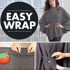 Make a warm polar fleece wrap in just 5 easy steps, in under an hour!