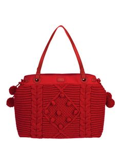 Oilily Red Knit Satchel to show off your vibrant side!