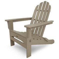 Cape Cod Sand Castle Folding Patio Adirondack Chair