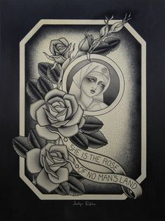 option number 2 for a  'Rose of No Man's Land' themed art show in Berlin