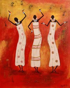 My Inspiring Place: I have always been fascinated by African art. It has so much energy, colors, patterns that simply fascinated me with their uniqueness, characterizing African culture. Arte Tribal, Tribal Art, Costume Africain, African Art Projects, Art Picasso, African Paintings, African American Art, African Women, Art Africain