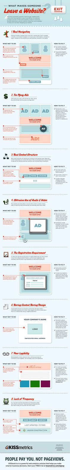 #infographic: Why People Leave Your Website - SeoCustomer