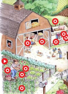 TOUCH den här bilden: Interactieve vertelplaat Boerderij en tuinieren by ingrid Country Art, Country Life, Cute Animal Illustration, Illustration Art, Creative Teaching, Creative Art, Farm Art, Farm Theme, Language Development