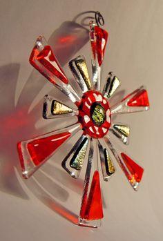 Fused Glass Christmas Star   Tree Ornament / by joallardglass, €25.00