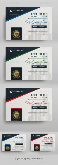 Buy Certificate by DUrgaDesigns on GraphicRiver. Certificate Template Fully Clean Certificate Paper Size With BleedsQuick and easy to customize templatesAny Size C.