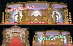 #Paisley #Style #Wooden #Hand #Carved #Mandap #Dstexports