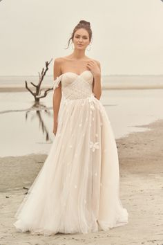 Lillian West wedding dresses embody whimsy and romance. From soft, patchwork laces to flowing silhouettes, Lillian West is perfect for the free-spirit bride. Lillian West, Dream Wedding Dresses, Designer Wedding Dresses, Wedding Gowns, Boho Wedding, Floral Wedding, Allure Bridals, Blush Bridal, Bridal Gowns
