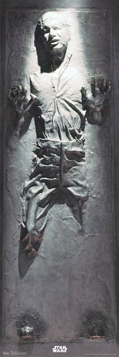 Han Solo In Carbonite Poster http://coolpile.com/home-stuff-magazine/star-wars-han-solo-frozen-carbonite-wall-poster/ - via coolpile.com   #Cool #Han Solo #Posters #Star Wars #ThinkGeek #coolpile