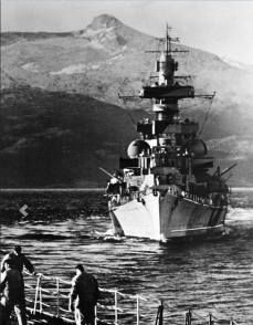 Admiral Hipper taken from the Tirpitz in Norway, ... on July 1942 ... during the Operation Rosselsprung