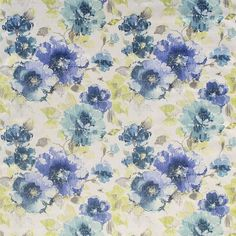 Warwick Fabrics : FINCHLEY, Colour BLUEBELL
