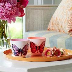 Le porte réchauds en Porcelaine Papillons (P92073) Pour en voir plus/to see more: www.partylite.biz/francisguay
