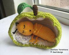 sleeping apple worm – Etsy UK