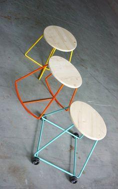 Three swinging stools from ZE123