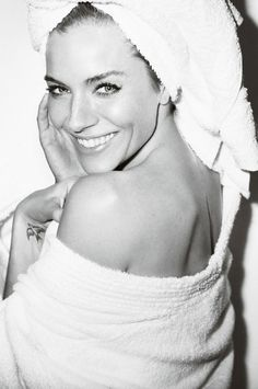 "Sienna Miller No. 59 in Mario Testino's ""Towel Series"""