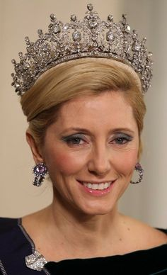 Queen Sophia's Diamond Tiara, has not been seen in four decades. It was last worn by Queen Friedrike, mother of the former King Constantine of Greece and Queen Sofia of Spain, in the 1960s.  The tiara itself is pure Victorian decadence; its first wearer was Sophie of Prussia, granddaughter of Queen Victoria and Prince Albert.   http://madhattery.royalroundup.com/