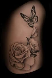 realistic butterfly flower tattoo - Google Search