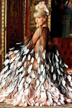 Fierce Factor | Feather Dress|  ~LadyLuxury~