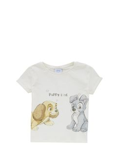 Clothing at Tesco   Disney Lady and the Tramp T-Shirt > tops > Tops & T-shirts > Younger girls