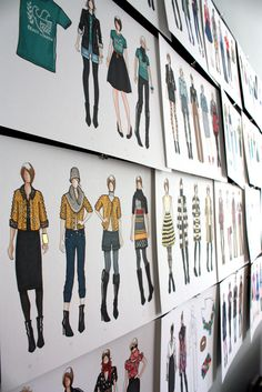 Wall of fashion illustrations [via what i wore]