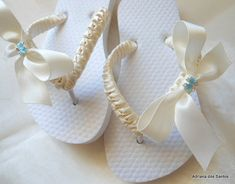 Flower Girl wedding flip flops