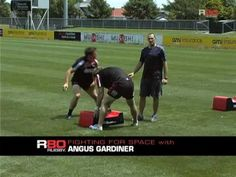 Ex Crusader and NZRU Coaching Resource Coach Angus Gardiner demonstrates with Crusader players how to win the space past the ball after the tackle. Rugby Drills, Rugby Coaching, R80, Games To Play, Recovery, Training, Fitness, Sports, Products