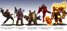 Got the idea online to design some Overwatch skins based on the other Blizzard franchises. Here's the first set (Starcraft) From left to right: Terran Marine 76, Protoss High Templar Zenyatta, Terr...