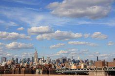 Widok na Manhattan z Mostu Brooklińskiego  Most Brookliński, Nowy Jork, USA