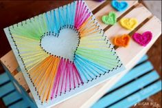Nail String Heart Art Tutorial