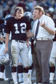 "Ken Stabler | Oakland Raiders. The ""Snake""  and Coach John Madden"
