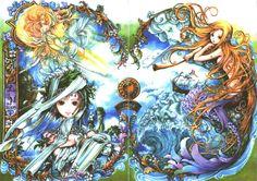 Mermaid illustration by Nao Tsukiji