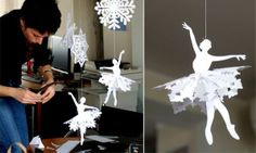 Diy Paper Ballerina Snowflakes - Click for More...