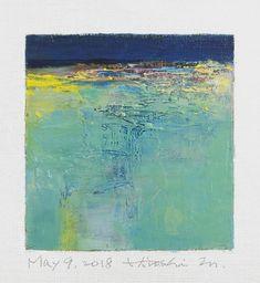 "May 9, 2018 9 cm x 9 cm (app. 4"" x 4"") oil on canvas © 2018 Hiroshi Matsumoto www.hiroshimatsumoto.com"