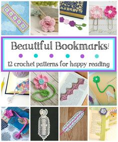Beautiful Bookmarks! 12 Free #Crochet Patterns via @fiberflux