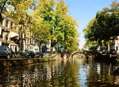 Amsterdam canal on a lovely sunny day...sigh...