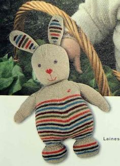 Free knitting pattern for bunny (in French)