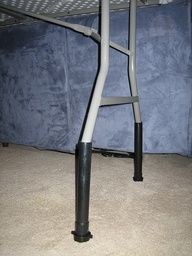 What a great way to get your jewelry at a higher, easier to see level! Table Leg Riser - $1 idea for craft show table